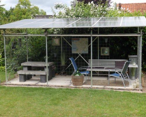 zonnepanelen in de tuin