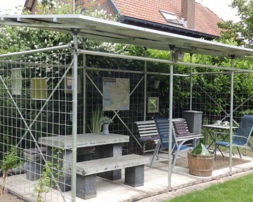 zonnepanelen op tuinhuis plaatsen