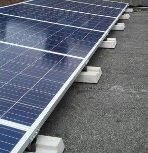 Plat dak montagesysteem, voorbeeld opstelling Evo excellent roof