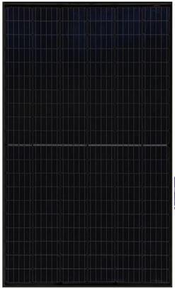 URE 310 Full Black Half Cut Cell zonnepaneel